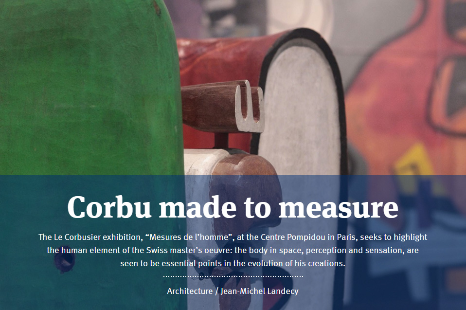 Corbu made to measure<br /> - Centre Pompidou, Paris -
